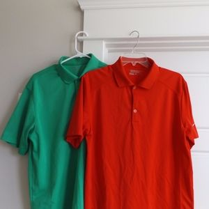 Nike Tour Performance Red and Green Golf Polos